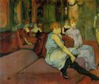 In the Salon of the Rue des Moulins Henri De Toulouse Lautrec