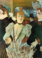La Goulue Arriving at the Moulin Rouge with Two Women