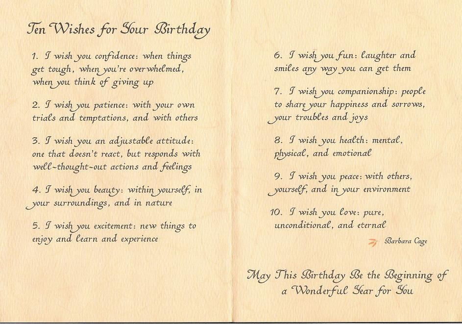 10 wishes for your B day ... (Click to enlarge)