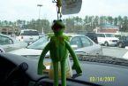 Kermit in window