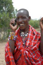 AMB Single Masai on Cell Phone
