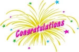 congratulations ... (Click to enlarge)