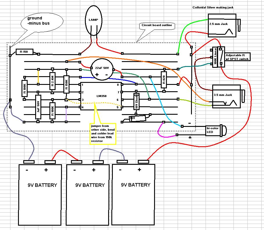 Enchanting 9v Led Wiring Diagram Adornment Electrical And Wiring