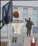 Lenin plays basketball