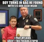 Boy Turns In Money