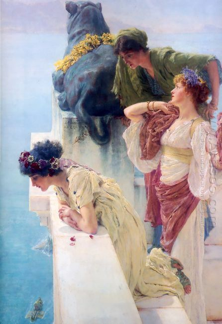 A Coign Of Vantage 1895 by Sir Lawrence Alma-Tadema
