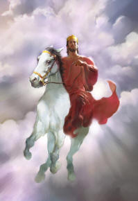 Jesus on white horse ... (Click to enlarge)