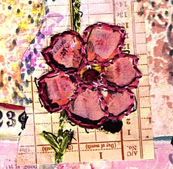 Eco Art Pink on Pink Collage by LFIRE 2020 detail 01