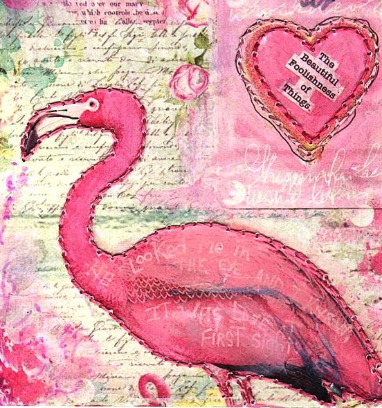 Eco Art Pink on Pink Collage by LFIRE 2020 detail 02cz