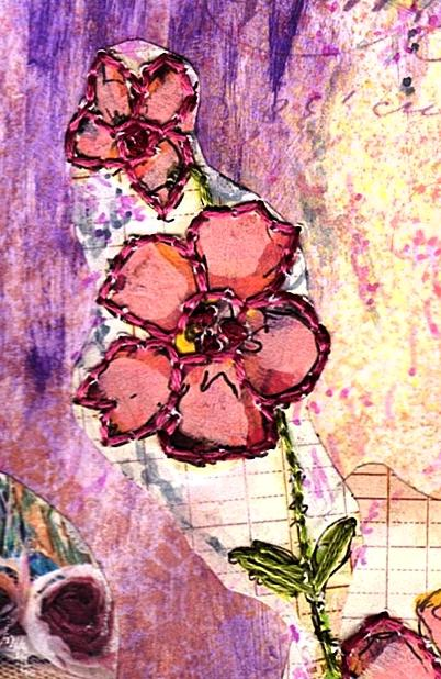 Eco Art Pink on Pink Collage by LFIRE 2020 detail 03cz