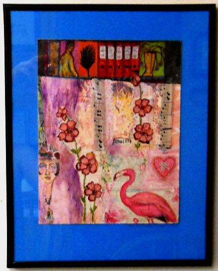 Eco Art Pink on Pink Collage by LFIRE 2020 framedcz