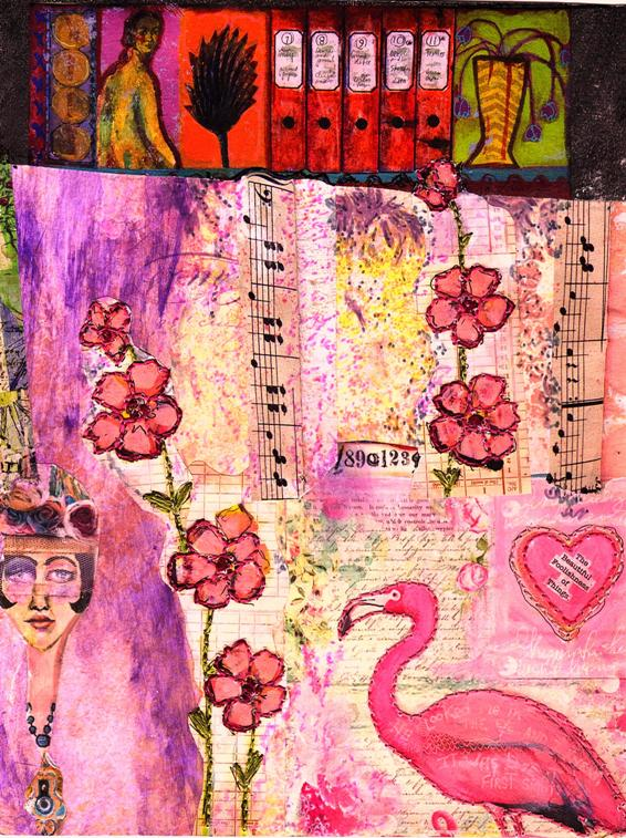 Eco Art Pink on Pink Collage by LFIRE 2020cz