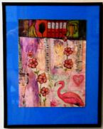 Eco Art Pink on Pink Collage by LFIRE 2020 framedcz ... (Click to enlarge)