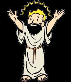 Jesus fallout christian lifegiver black background