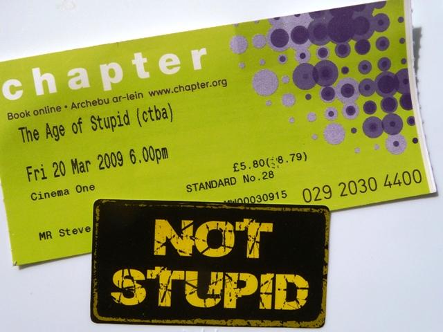 Age of Stupid Ticket