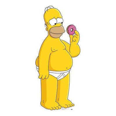 homer simpson with doughnut