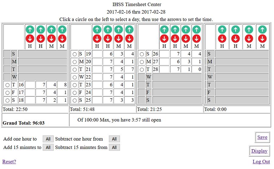IHSS Timesheet Calculator On CureZone Image Gallery – Timesheet Calculators