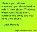 before you criticize someone