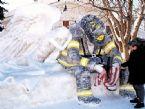 Ice Sculpture, Fireman of New York