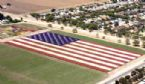 The Flag made of flowers!