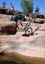 Biker Diving