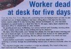 worker dead at desk for 5 days