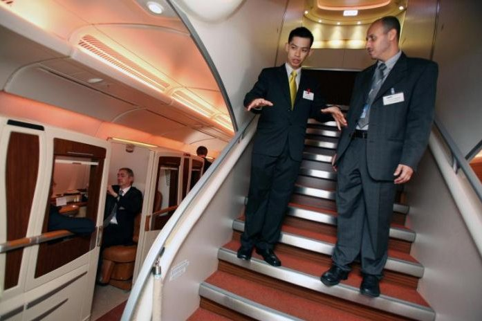 Airbus A380 Stairs up On CureZone Image Gallery