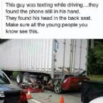 Car accident, Texting while driving!