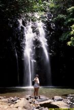 kelly and waterfall