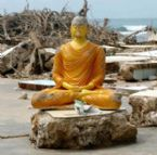 Buddha stands after the storm
