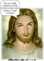 jesus bush cheney
