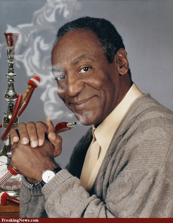 Bill Cosby Smokes Hookah ... (Click to enlarge)