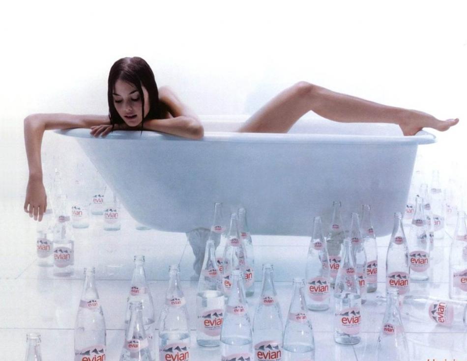 evian bathtub ... (Click to enlarge)