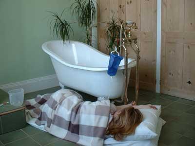 Comfortable Bathroom Enema ... (Click to enlarge)