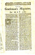 The Gentlemans Magazine 1767 page2