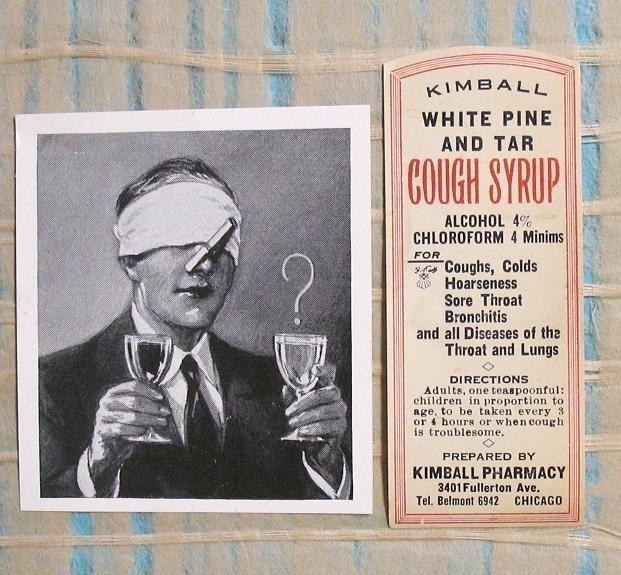 Kimball White Pine and Tar Cough Syrup with Cloro� ... (Click to enlarge)