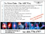 No More Pain - The ARP Way
