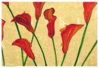 Verre Eglomise Red Flower