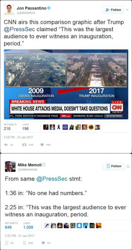 CNN INAUGURATION CROWD SIZES COMPARISON