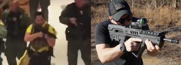 SAUDI PRINCE ESCORTED from TROPICANA x95 israeli service rifle 2