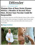 Woman Dies of Rare Brain Disease