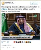 SAUDI ISSUES ULTIMATUM TO QATAR