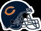 135px Chicago Bears helmet rightface
