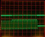 F Scan2 1360Hz aliasing Scope 2msdiv horizontal