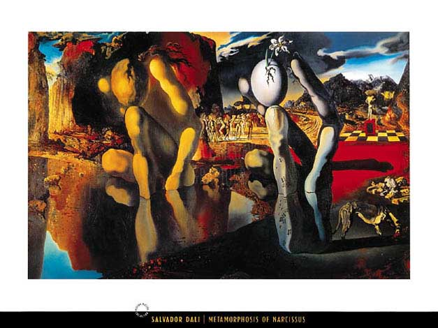 an analysis of metamorphosis of narcissus a painting by salvador dali The painting metamorphosis of narcissus was created in 1937 by oil on canvas by salvador dali this painting uses a lot of images to say what it means, for.