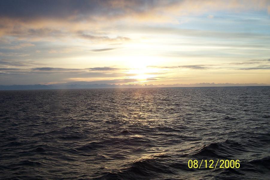 Sunrise sea off Alaska